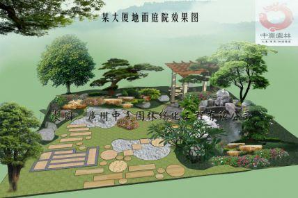 名称:大厦地面庭院景观设计效果图