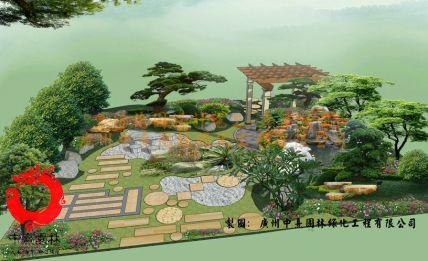 名称:会所花园设计效果图002